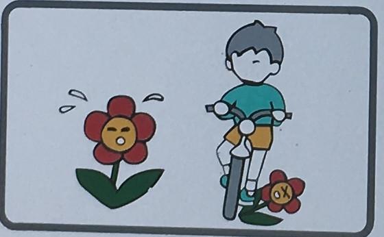オートバイ・自転車の乗り入れは禁止します。