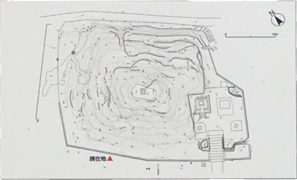 田子山富士塚平面図