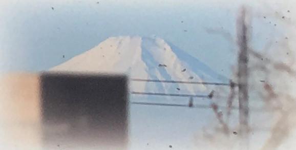 田子山富士塚頂上より富士山を望む