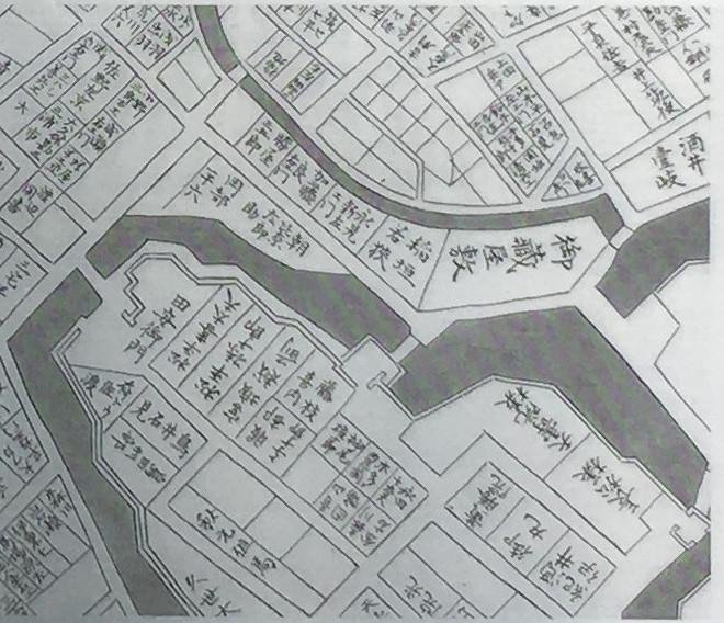 近世初頭の周辺図(『正保年間江戸絵図』【部分】)