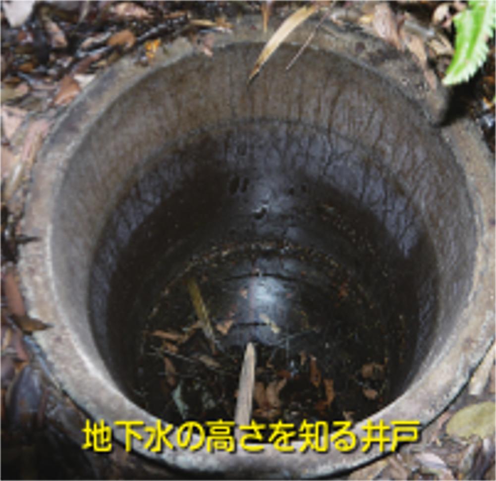 地下水の高さを知る井戸