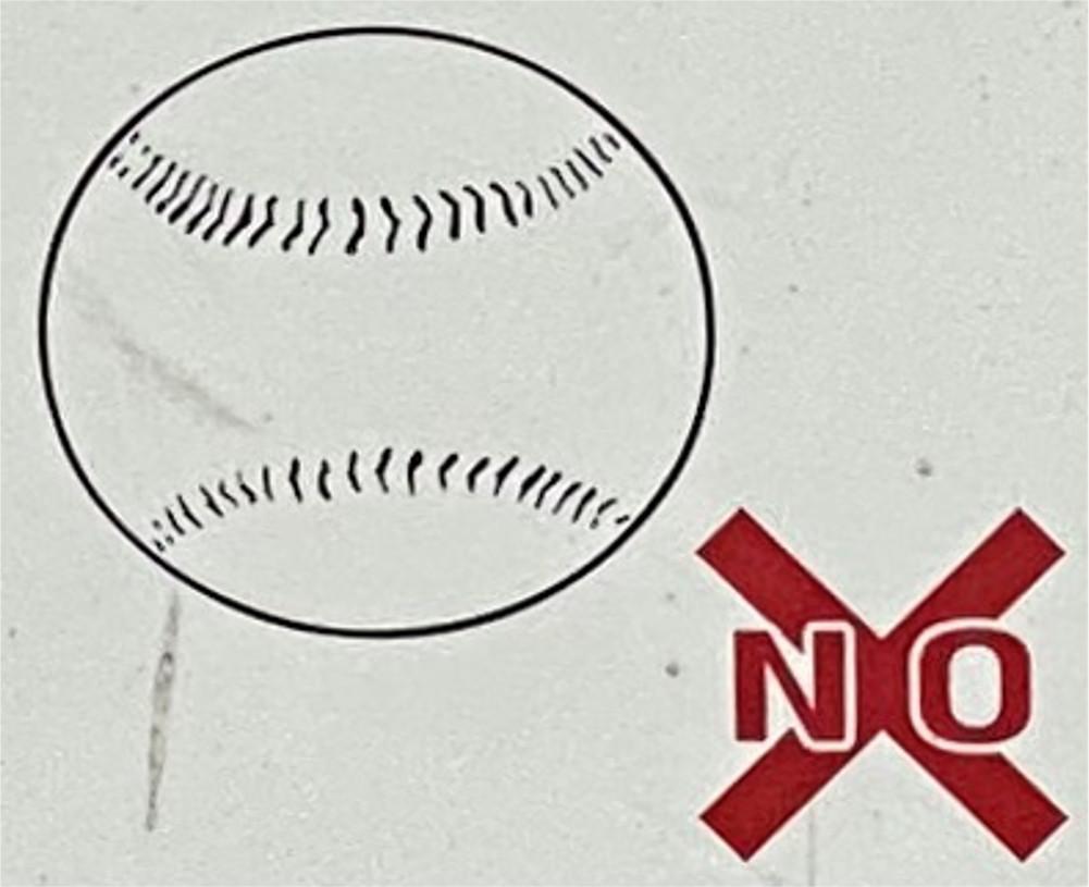 硬式野球ボールを使用する
