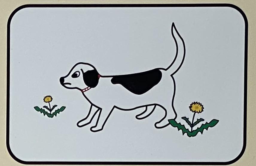 園内に犬など動物をつれて入らないでください。